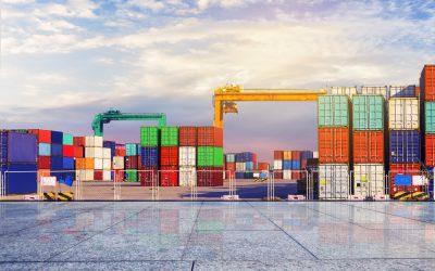 Benefícios da gestão de estoque: conteiners representando estoque