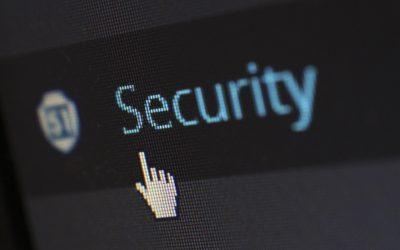 Segurança de dados: imagem de um cursos sobre a palavra security